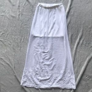 White lace bottom maxi skirt